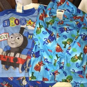 Other - 2 Pair Boys pjs Thomas The train and PJ Masks 3T